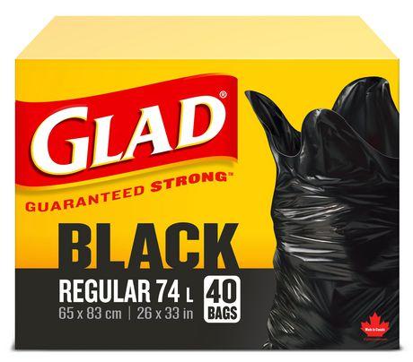 Glad Easy-Tie Garbage Bags- Regular Black