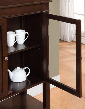 Wyndenhall richland medium storage tobacco brown cabinet for 40 inch kitchen cabinets
