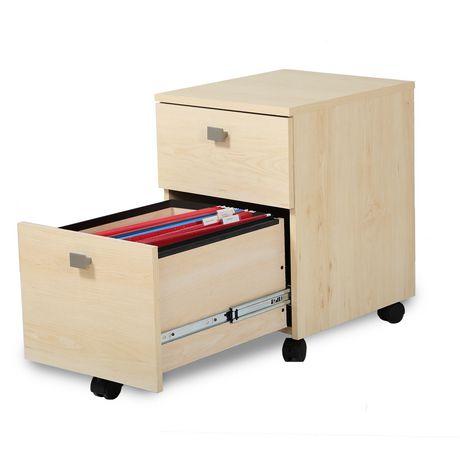 classeur mobile 2 tiroirs collection interface de meubles south shore. Black Bedroom Furniture Sets. Home Design Ideas