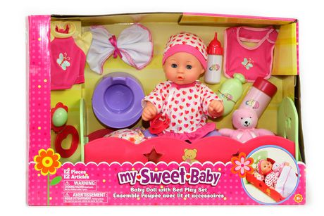 Quot 14 Quot Quot Baby Doll With Bed Playset At Walmart Ca