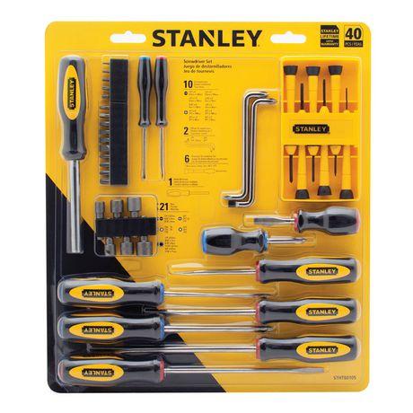 stanley 40pc screwdriver set stht60105. Black Bedroom Furniture Sets. Home Design Ideas