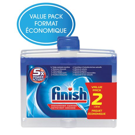 Finish Dishwasher Detergent Cleaner Dual Action Formula Value 2 Pack - 500Ml