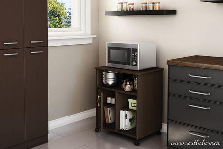 meuble pour micro ondes sur roulettes collection fiesta de meubles south shore. Black Bedroom Furniture Sets. Home Design Ideas