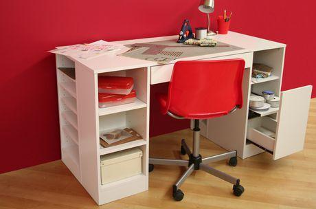 south shore crea collection craft table. Black Bedroom Furniture Sets. Home Design Ideas