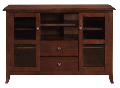 collins 54 inches wide x 36 inches high tall tv stand in medium mahogany brown. Black Bedroom Furniture Sets. Home Design Ideas