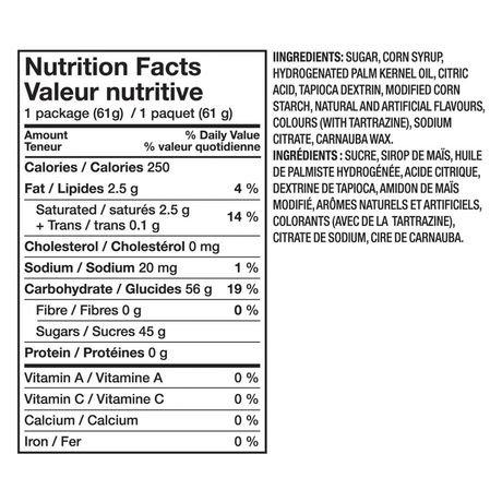 Lifesavers orange o mint candies walmart canada for Swedish fish nutrition
