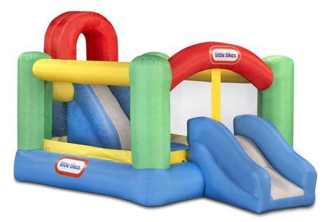 little tikes jump 39 n double slide bouncer. Black Bedroom Furniture Sets. Home Design Ideas
