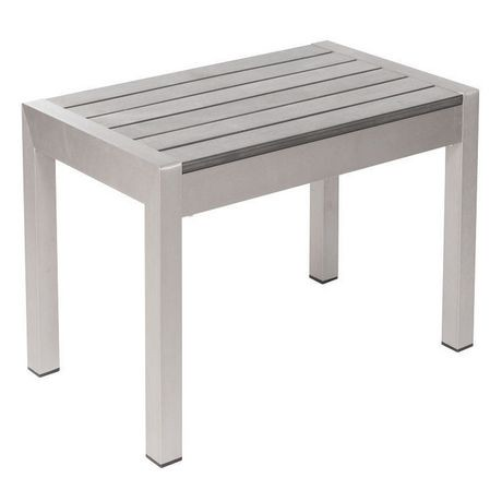 Table caf 1 pi ce en aluminium bross pour ext rieur for Table exterieur walmart