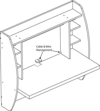 Prepac floating desk with storage walmart canada for Planos de escritorios
