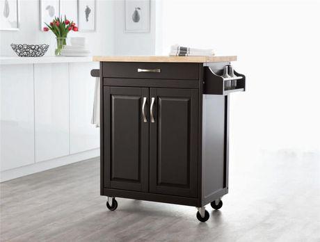 hometrends kitchen island cart walmart ca mainstays kitchen island cart multiple finishes walmart com