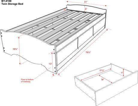 prepac base de lit plateforme avec 3 tiroirs de rangement simple walmart canada. Black Bedroom Furniture Sets. Home Design Ideas