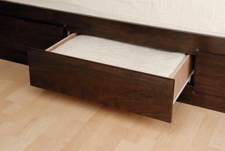 prepac base de lit plateforme avec 6 tiroirs de rangement grand. Black Bedroom Furniture Sets. Home Design Ideas