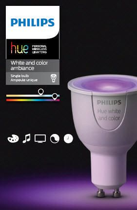 philips hue white and colour ambiance extension bulb gu10 walmart canada. Black Bedroom Furniture Sets. Home Design Ideas