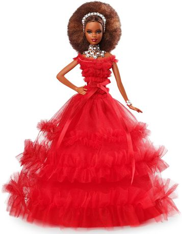 2018 Holiday Barbie Doll - Brown Hair