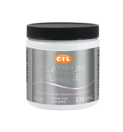 Cil Platinum Interior Paint Tester Pre Tinted Granite Gray 236 Ml