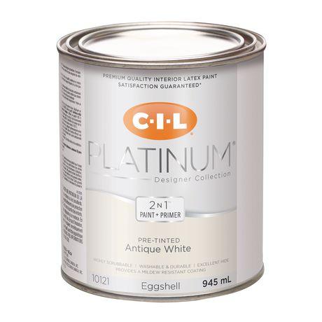 cil md platine md peinture d int rieur pr teint e en format d essai blanc antique 945 ml. Black Bedroom Furniture Sets. Home Design Ideas