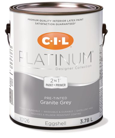 Cil Platinum Interior Paint Pre Tinted Granite Gray L