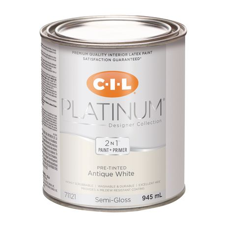 Cil Platinum Interior Paint Pre Tinted Antique White 945 Ml