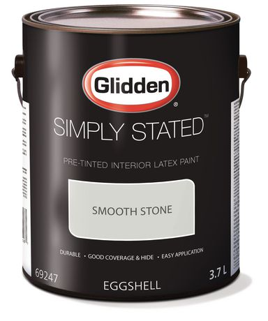 Glidden Simply Stated Interior Paint Pre Tinted Smooth Stone 3 7 L