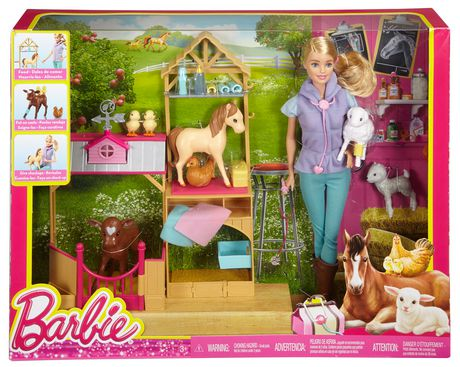 Barbie farm vet doll playset - Image de barbie ...