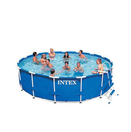 Piscine intex armature m tallique 15 pi x 42 po for Piscine 42