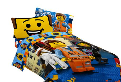 couvre lit r versible lego movie extraordinary. Black Bedroom Furniture Sets. Home Design Ideas