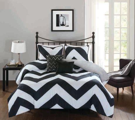 Hometrends Chevron 5 Pieces Comforter Set King Walmart Ca