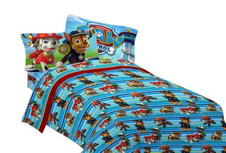 Ens draps pour lit double puppy hero de la pat for Chambre poussin toys r us