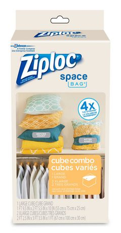Sc Johnson And Son Ziploc 174 Space Bag Cube Combo 3ct
