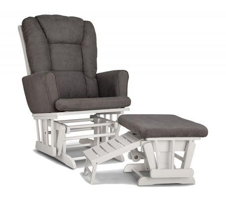 Chaise ber ante avec tabouret d allaitement sterling de for Chaise bercante allaitement