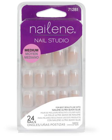 Nailene Nail Studio Medium Pink Glue On Nails 24Ct ...
