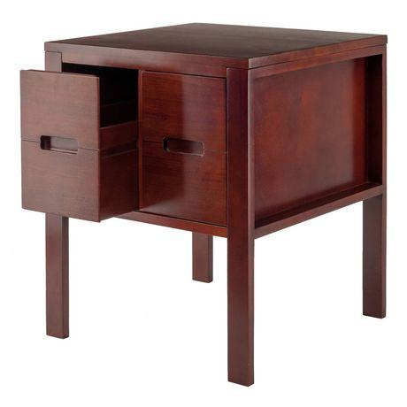 winsome bora end table 94721. Black Bedroom Furniture Sets. Home Design Ideas