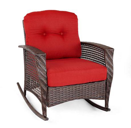 Chaise bascule en osier tuscany de hometrends for Chaise bercante walmart