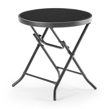 Table pliante avec plateau en verre de mainstays walmart for Table exterieur walmart