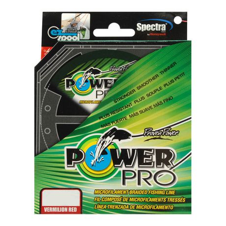 Powerpro braided line vermilion red 150 yds 20 lb test for Fishing line at walmart