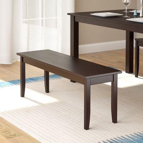 banc de salle manger teint cappuccino atwood de corliving. Black Bedroom Furniture Sets. Home Design Ideas