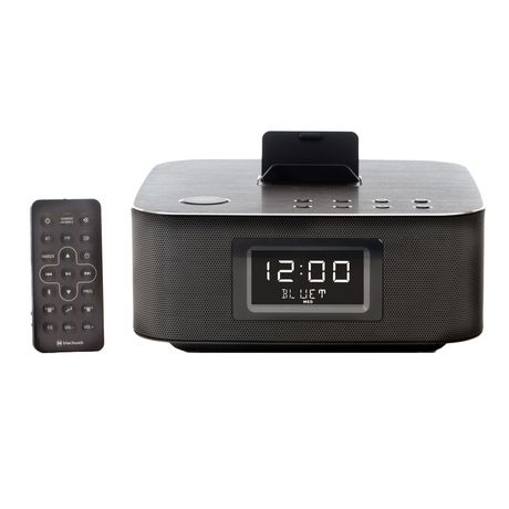 blackweb soundblock bluetooth enabled clock radio. Black Bedroom Furniture Sets. Home Design Ideas