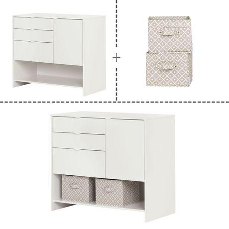 south shore crea meuble de rangement pour bricolage blanc solide. Black Bedroom Furniture Sets. Home Design Ideas