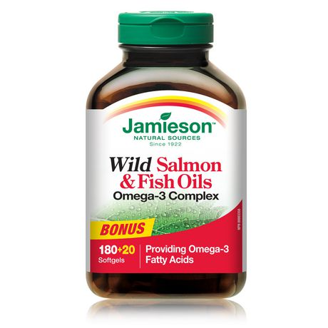 Jamieson wild salmon and fish oils omega 3 complex for Salmon fish oil