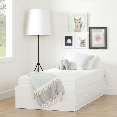 south shore summertime ensemble lit matelot et matelas simple 39 39 39 blanc solide. Black Bedroom Furniture Sets. Home Design Ideas