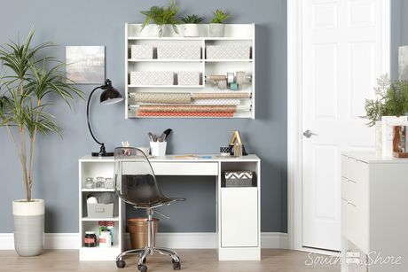 south shore crea tag re murale pour bricolage blanc solide. Black Bedroom Furniture Sets. Home Design Ideas