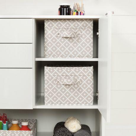 South shore crea meuble de rangement pour bricolage blanc - Meuble de rangement bricolage ...