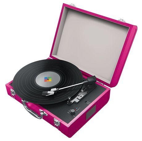polaroid tourne disques bluetooth avec haut parleurs int gr s. Black Bedroom Furniture Sets. Home Design Ideas