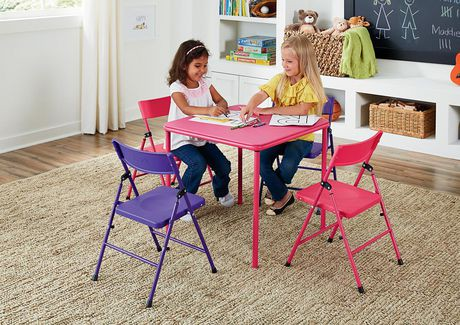 cosco kid 39 s folding table chair set walmart canada. Black Bedroom Furniture Sets. Home Design Ideas