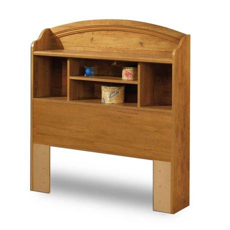 south shore t te de lit biblioth que une place collection prairie finition pin champ tre. Black Bedroom Furniture Sets. Home Design Ideas