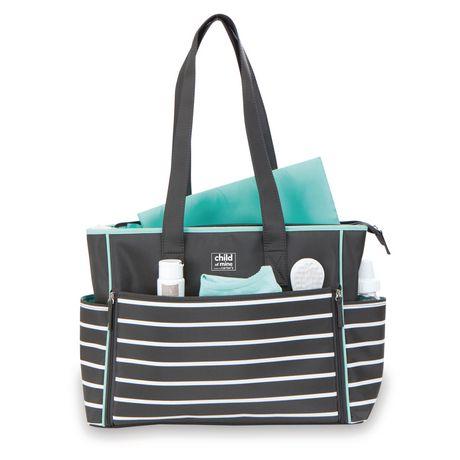 carter 39 s child of mine zip down front diaper bag. Black Bedroom Furniture Sets. Home Design Ideas