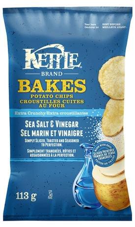 Kettle chips croustilles sel de mer et vinaigre cuites au - Chips fait maison au four ...