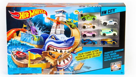 hot wheels color shifters sharkport showdown 17 cars. Black Bedroom Furniture Sets. Home Design Ideas