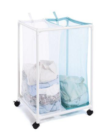 panier linge en filet 2 compartiments mainstays. Black Bedroom Furniture Sets. Home Design Ideas