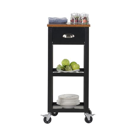 Homestar Kitchen Island Cart In Black